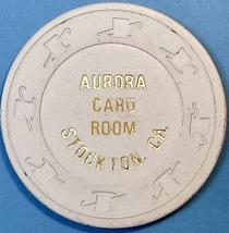 10¢ Vintage Casino Chip. Aurora Card Room, Stockton, CA. 1953. Q40. - $6.99