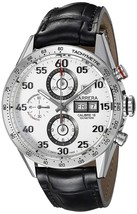 Tag Heuer Men's CV2A11.FC6235 Carrera LE Chrono Automatic Black Leather ... - $4,359.35