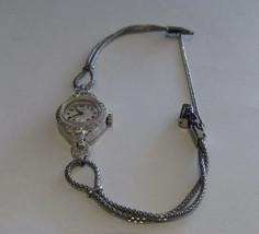 Vintage Platinum ladies Elgin Wristwatch 0.50 TDW 17 Jewels 8.2 Grams - $1,295.00