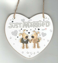 licensed boofle plaque just married limited number available - $18.99