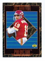 1995 UPPER DECK PREDICTOR JOE MONTANA CHIEFS PROMO CARD - $0.99