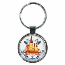 Harry Potter Hogwarts Cartoon Keychain Silver - $8.98