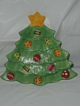 2009 Fitz & Floyd Snowflake Jake Decorated Christmas Tree Sweet Treat Tray Dish - $16.82