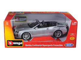 Bentley Continental Supersports Convertible Silver 1/18 Diecast Model Car by Bbu - $68.59