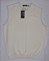 CYPRESS LINKS Cable Knit Cream Sweater Vest Large Golf Attire Sportswear LARGE image 8