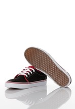 VANS SHOES 106 VULCANIZED 2 TONE BLACK CHILI PEPPER RED KIDS BOYS YOUTH ... - $28.01