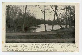 The Rancocas Creek Undivided Back Postcard 1906 Mount Holly New Jersey  - $17.82
