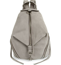 NWT REBECCA MINKOFF Lrg Julian Full Size NUBUCK Leather Backpack GREY AU... - $269.90