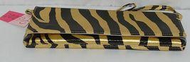 Prezzo Brand Style 3208 Black Gold Zebra Striped Clutch Purse Removable Strap image 3