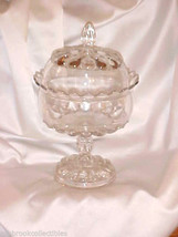 Westmoreland Glass EAPG Teardrop Crystal Round Wedding Covered Compote - $149.50
