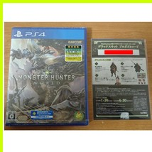 PS4 Game Soft Monster Hunter World Japan with Product code deluxe kit Ca... - $90.95