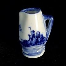 Antique Miniature Pitcher Royal Doulton Porcelain Flow Blue Doll House Norfolk - $54.45