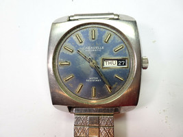 Caravelle 11UKACB 17 Jewel Automatic 1970 Watch Runs For Restoration Parts - $111.27