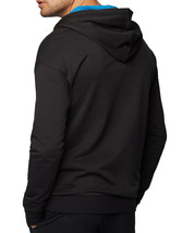Hugo Boss Hooded Loungewear Jacket In Cotton Terry With Geometric Pattern image 2