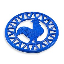 Old Dutch International Two-Tone Rooster Trivet in Blue - $9.99