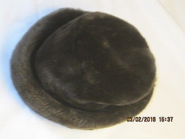 Soft Brown Faux Velvet Hat One Size Ships Free in the USA - $8.55