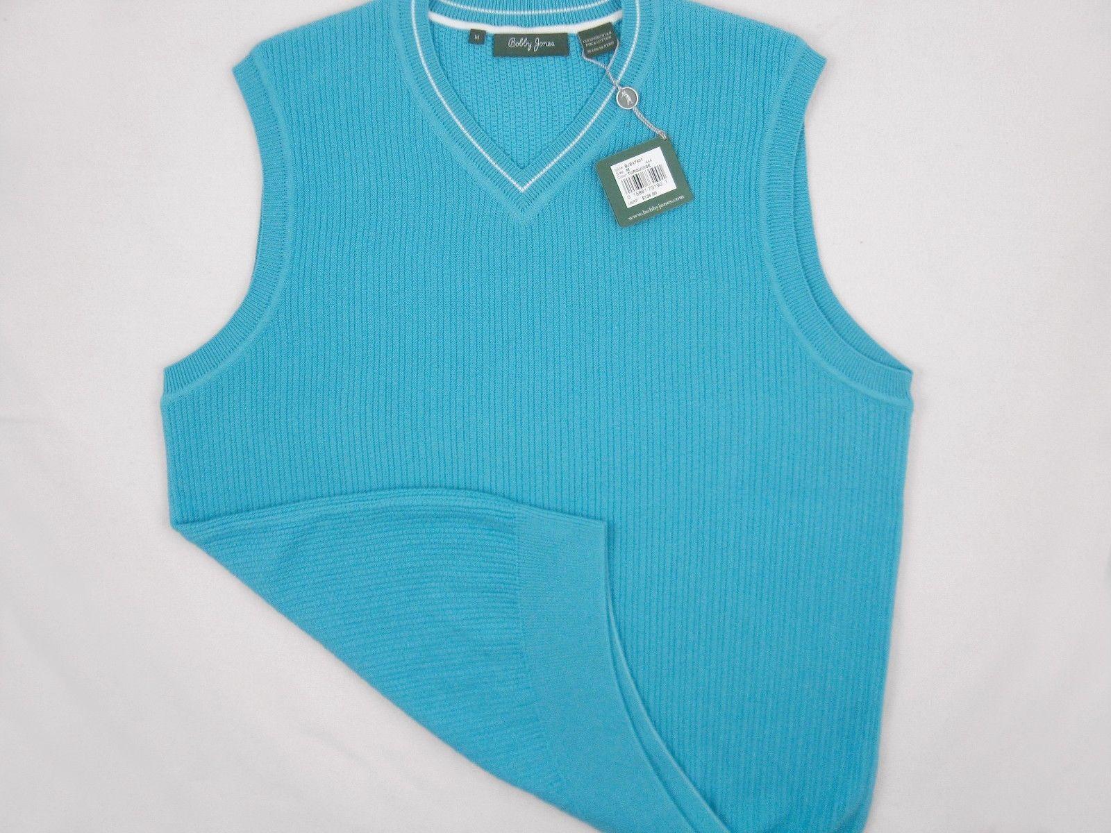 NEW! NWT! $135 Bobby Jones Collection Colorful Vest! 100% Peruvian Pima Cotton