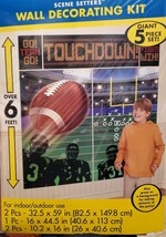 Football Touchdown - 6 Ft Birthday Party Scene Setters 5-Pc Wall Decorating Kit - $14.50