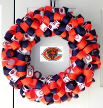 Chicago Bears Custom Loopy Ribbon Wreath - $29.00