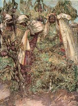 "Vintage 1912 Print by Edward A. Hornel  "" Tea-Plucking in Ceylon "" - $12.99"