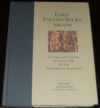 Scarce Vintage Reference book on Early English Books 1641-1700 - $65.34