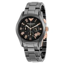 Emporio Armani AR1413 Black & Gold Ceramica Chronograph Watch - $189.99