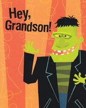 "Greeting Halloween Card ""Hey, Grandson"" Just a Halloween Hi - $1.50"