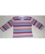 Girls Old Navy Lilac Blue Stripe Long Sleeve To... - $4.00