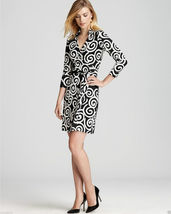 Diane von Furstenberg New Jeanne Two Swirl Large Black 10 - $249.99