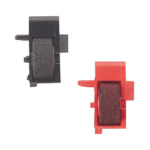 Texas Instruments 5045 SVC Calculator Ink Rollers CP-17 Compatible 1 Black 1 Red