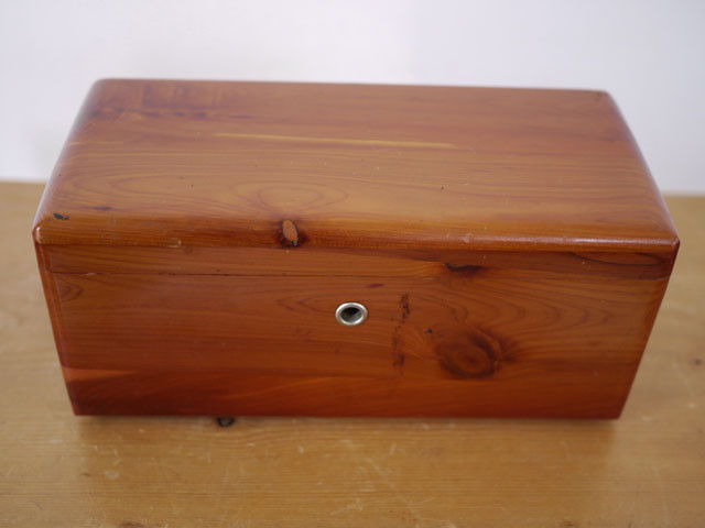 Vintage LANE Cedar Wood Chest Salesman Sample Mini Box Barnes & Kimel VIRGINIA