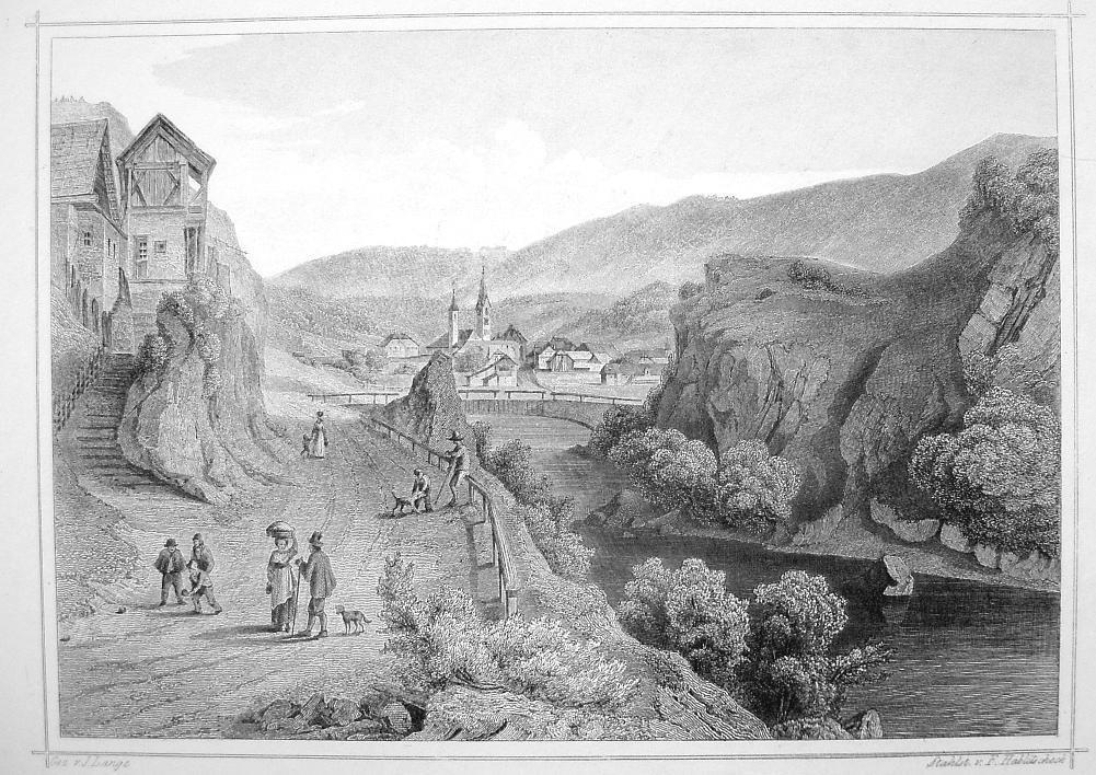Primary image for ITALY San Lorenzo in South Tyrol - 1870s Original Engraving Print