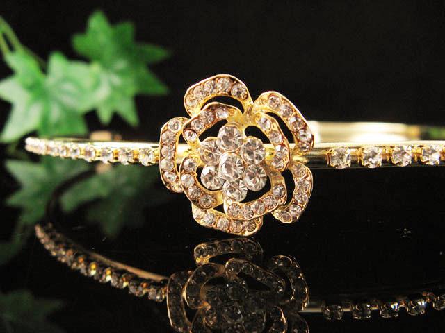 GLAMOUR DELICATE HEADBAND WEDDING CRYSTAL TIARA RHINESTONE BRIDAL COMB 9137g