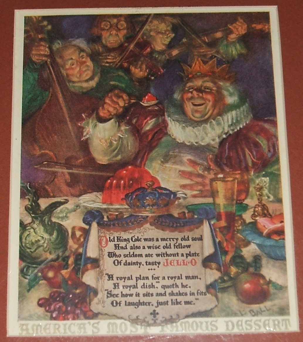 1925 full page color old king cole jello advertisement for Old king cole coloring page