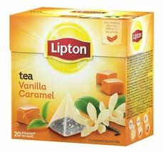 6x Lipton Tea Vanilla Caramel = 120 Pyramid Tea/Infusion (6 Boxes x 20 Tea Bags) - $23.21
