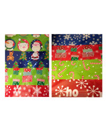 Christmas Gift Wrap Flat Wrapping Paper snowfla... - $26.99
