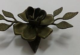 Vintage Brass Rose Candle Holder Home Decor - $15.00