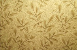 Fons and Porter Cumberland Brown Fern Leaves on Brown Cotton Fabric 1 yard - $8.95