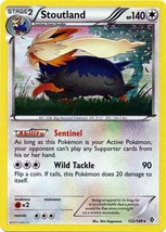 Stoutland 122/149 Holo Rare Boundaries Crossed Pokemon Card - $1.59