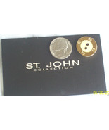 St. John Collection Knits Replacement button Gold Tone With Ivory - $8.50