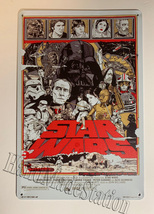 Star Wars Old Movie poster characters Wall Metal Sign plate Home decor 11.75x7.8