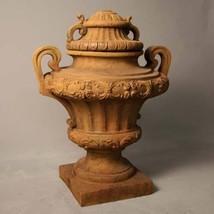 Fabulous Garden Embellished  Sand Stone  Fiberglass Urn,24'' 20'' x 31''h. - $549.00