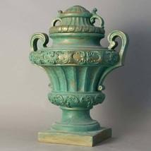 Fabulous Garden Embellished  Green Bronze  Fiberglass Urn,24'' 20'' x 31... - $543.51