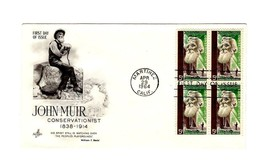 FDC ENVELOPE- JOHN MUIR-CONSERVATIONIST- BL 4-1964 ART CRAFT CACHET  BK12 - $1.47