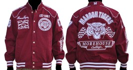 Morehouse College Long sleeve Race Jacket HBCU COLLEGE JACKET S-4X #2 - $104.99