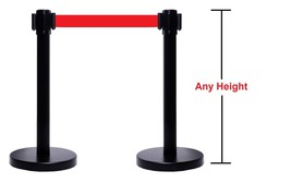 RETRACTABLE BELT STANCHION 2 PCS SET VIP CROWD CONTROL CUSTOM HEIGHT - $148.49+