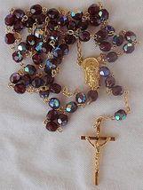 Purple crystal beads Rosary - $28.00