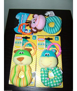 3x Little Tikes Loop Rattle Baby Toys, Soft Animal Faces. Age 0+ months.... - $12.86