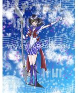 Sailor Moon Saturn Love The Music of Time Original + Print Fan Art 2pc Set! - $19.99