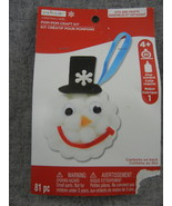 Holiday Pompoms Snowman head Ornament Craft Kit Creatology  Unopened   - $8.00